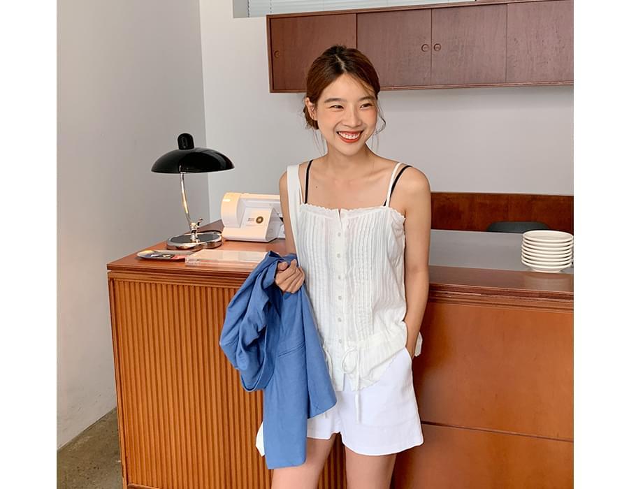 Formal linen shorts_B (size : S,M)