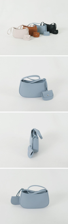 Clash round shoulder bag