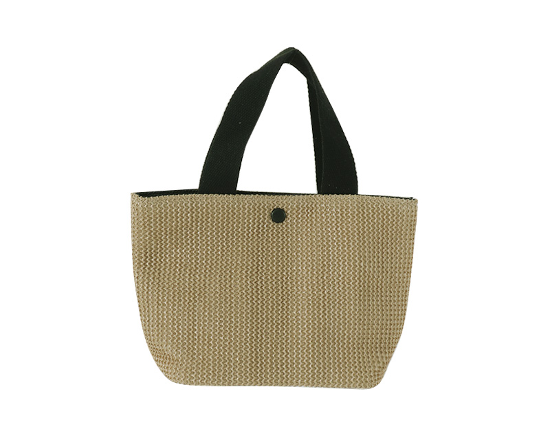Grained straw tote bag