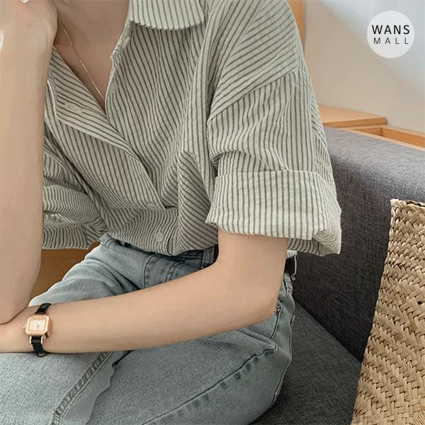 nb4437 Nature Stripe Short Sleeve Shirt (Delayed delivery)