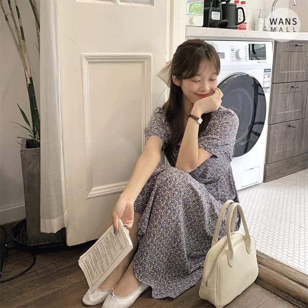 op4440 Mason Flower V-Neck Long Dress (Delayed delivery)