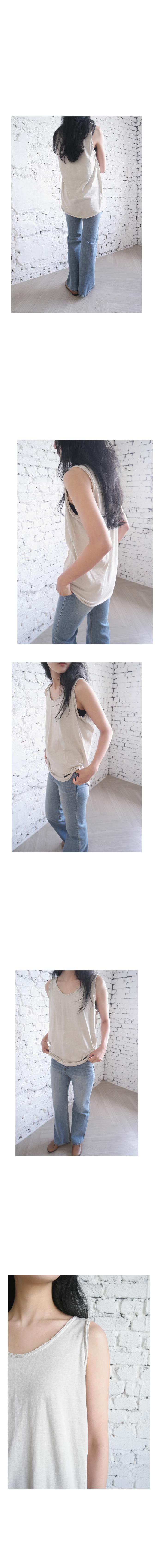 vintage washed long sleeveless