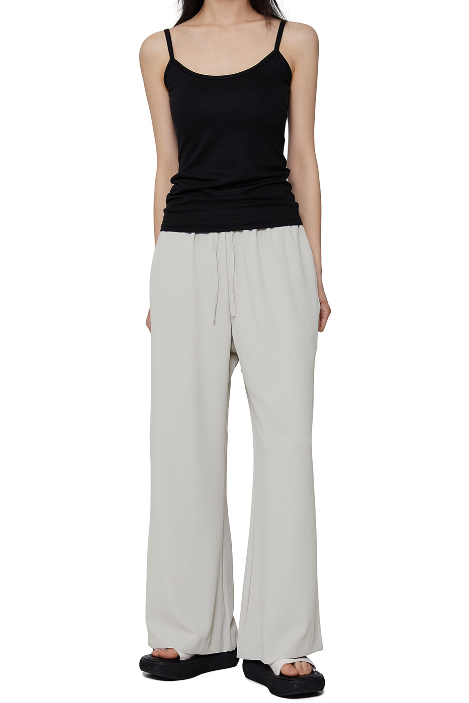 Dove banding wide trousers