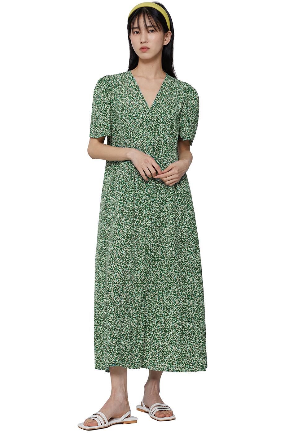 Country flower long dress