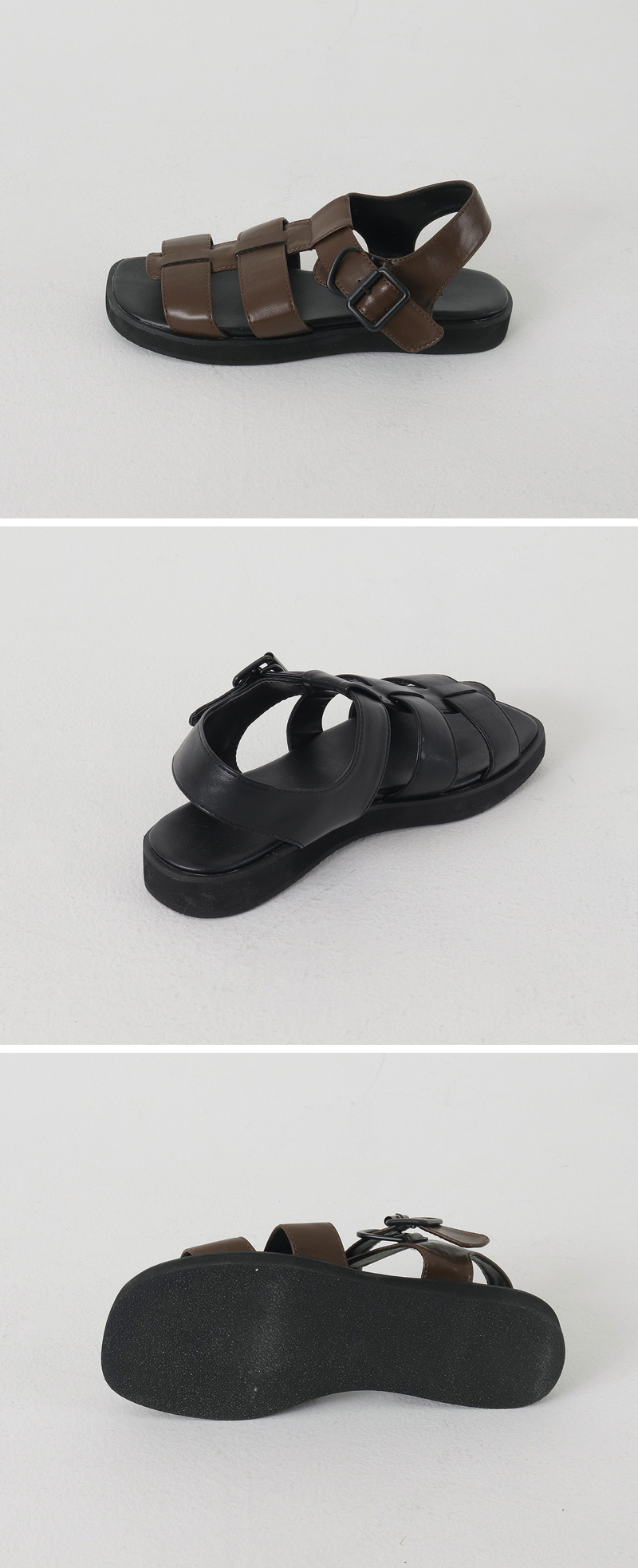 Chunky Strap Flat Sandal