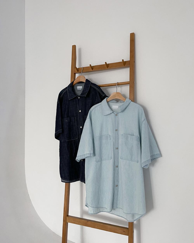 Roy Boxy-fit Short Sleeve Denim Shirt