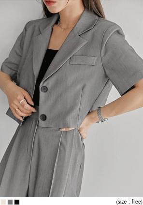 Short Sleeve Cropped Jacket