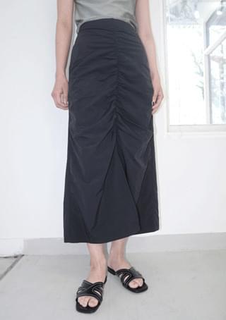 center line shirring easy skirt 裙子