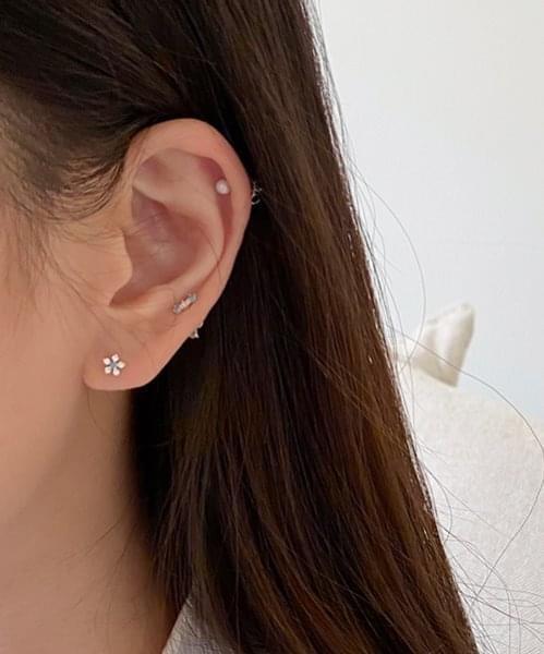 floral earring set