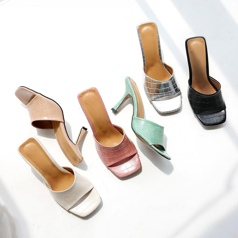 High-quality mule slippers 8cm