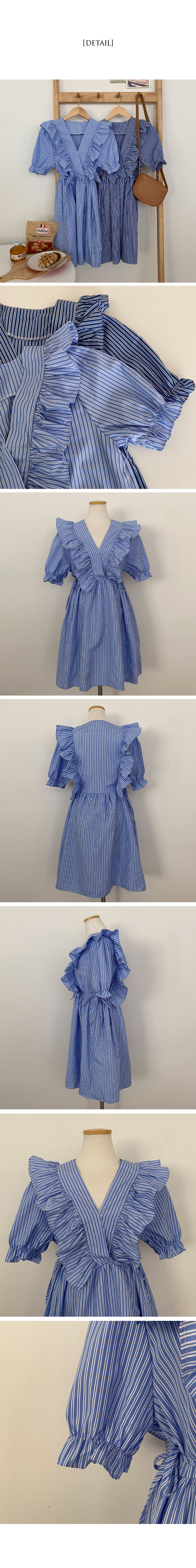 Fury lace side ribbon stripe Dress