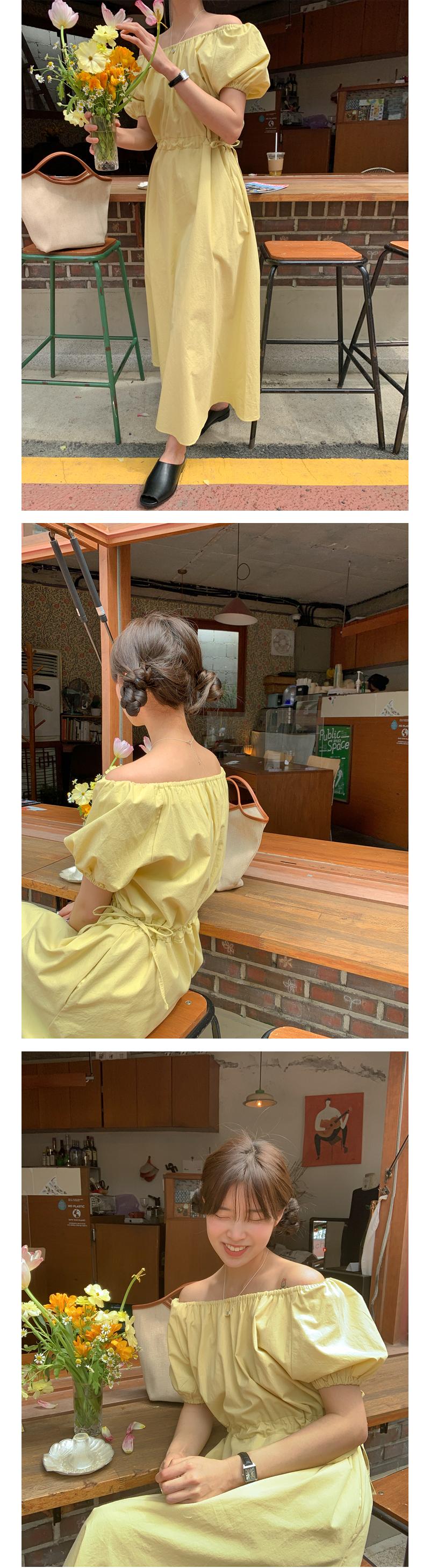 Off Shoulder String Long Dress