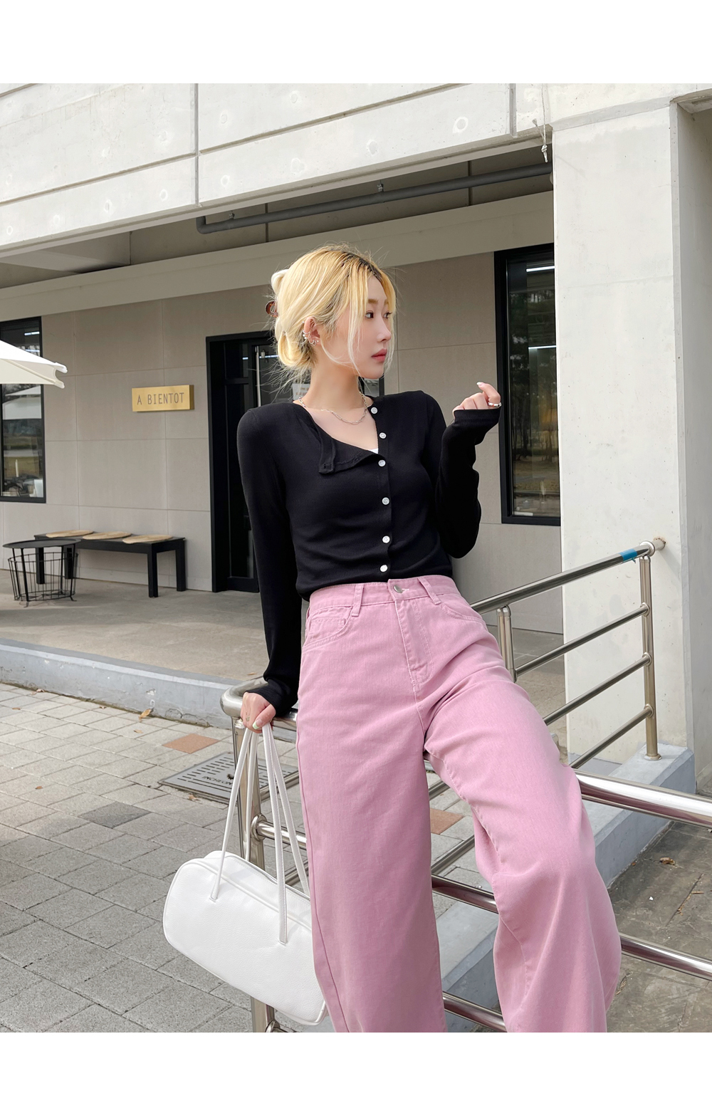Lee Garden straight-wide cotton trousers