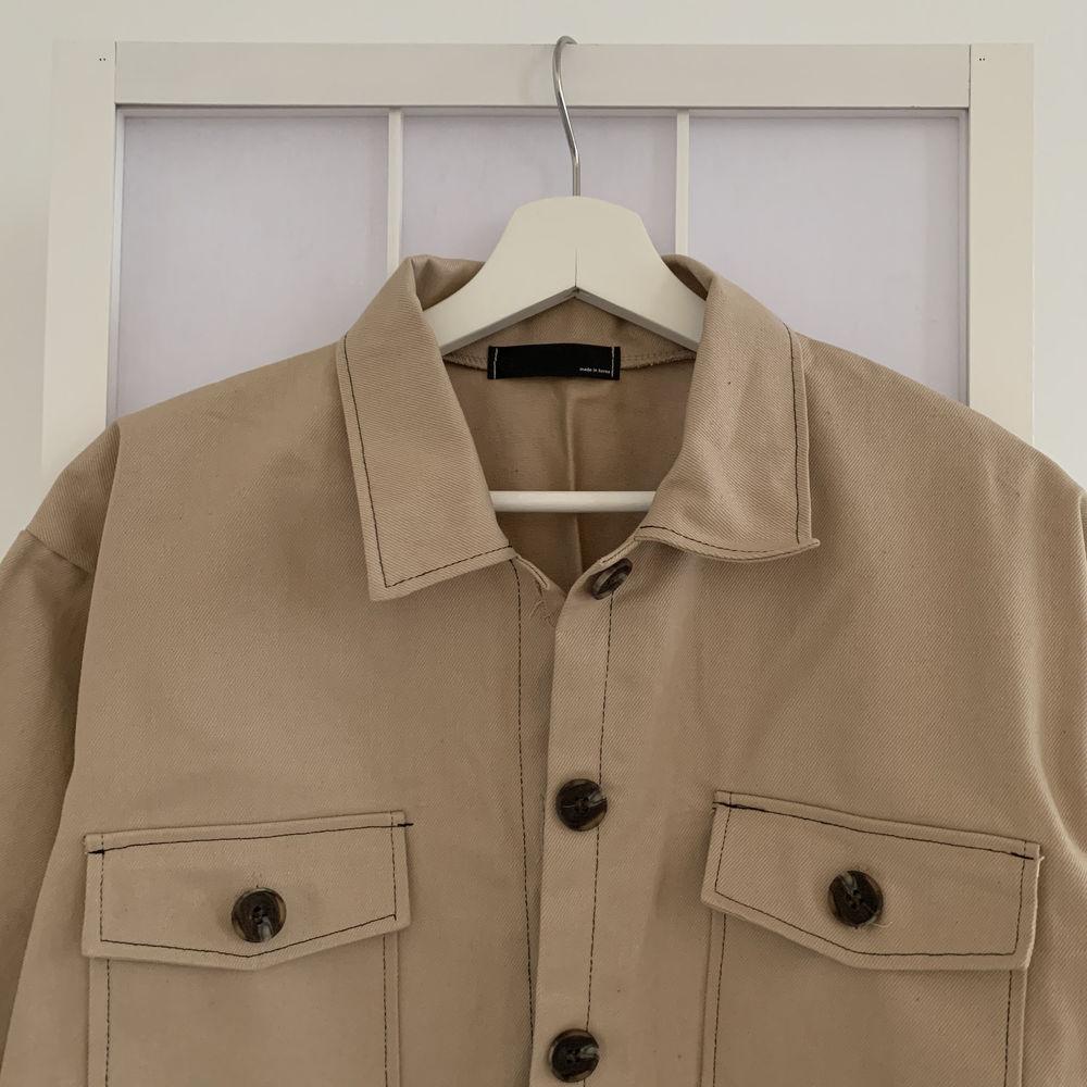 Cotton stitch short jacket