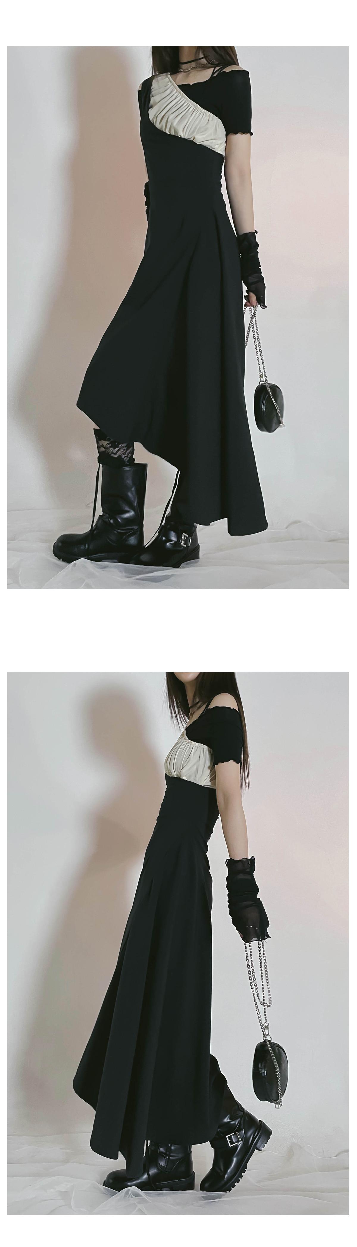 Layered Fleece Unfoot Long Dress