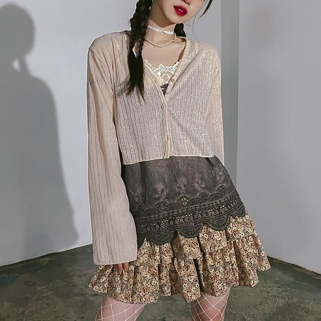 Cropped Leis Knitwear Cardigan 針織外套