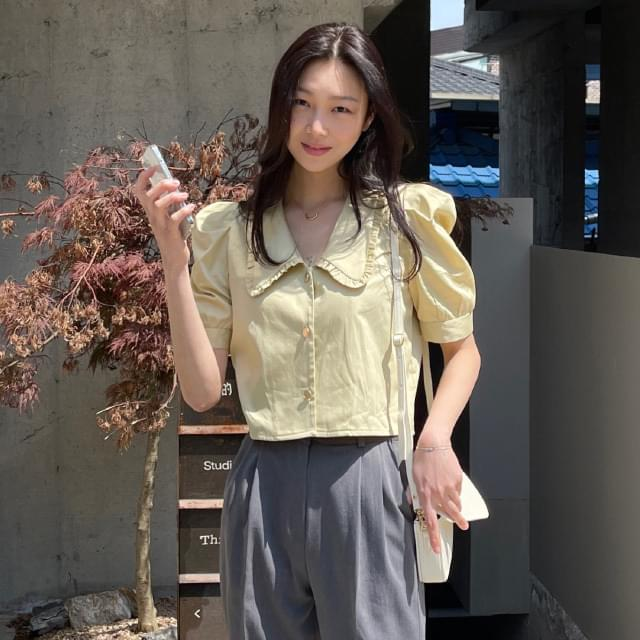 River Frill Crop Blouse