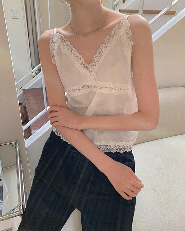 #Any place Elin V-Neck lace sleeveless