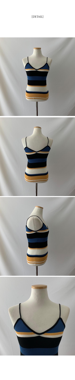 Cozy Striped straps Sleeveless