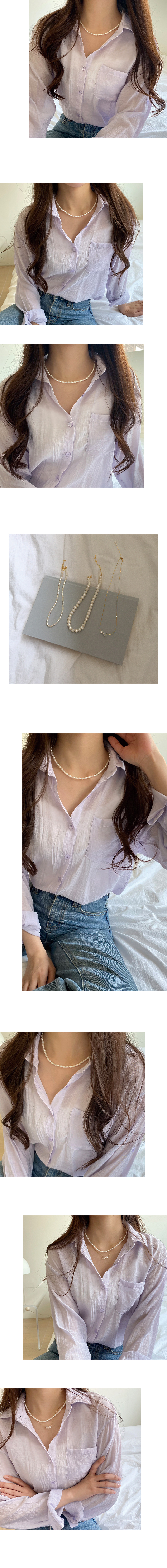 oval pearlstone necklace