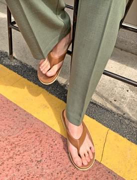 韓國空運 - Island leather flip flop 涼鞋