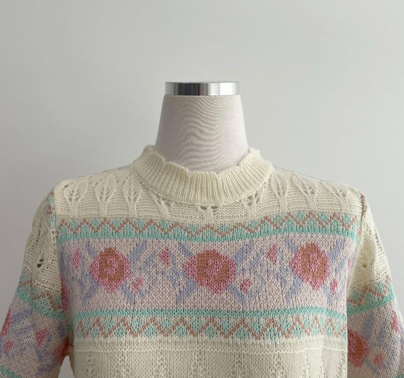 kn4271 Newel Antique Short Sleeve Knitwear