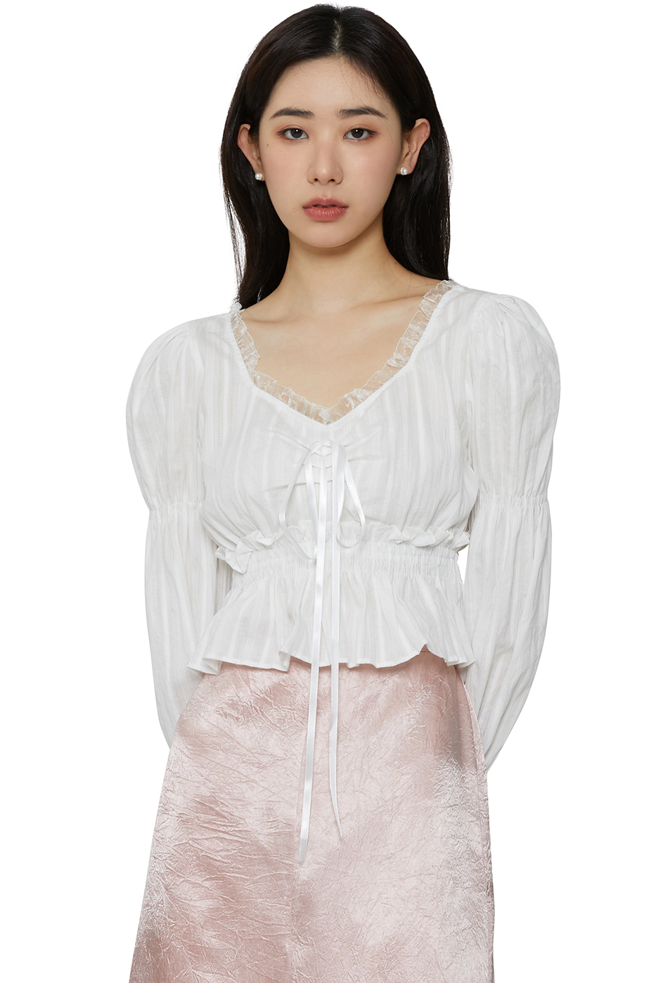 Awesome frill cropped blouse