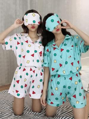 Crayon Short Sleeve Pajama Set