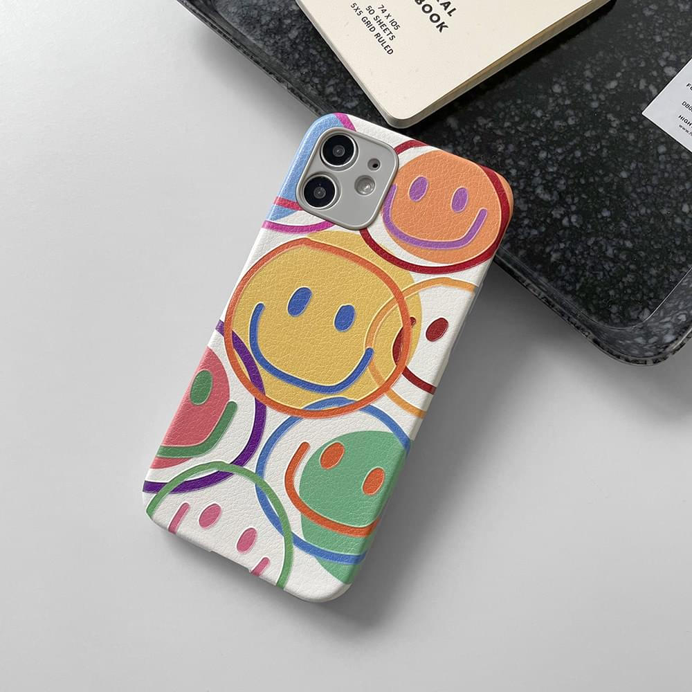 (Limited Offer) MoMA Smile Pattern Full Cover iPhone Case (人氣商品配送延遲) 手機殼