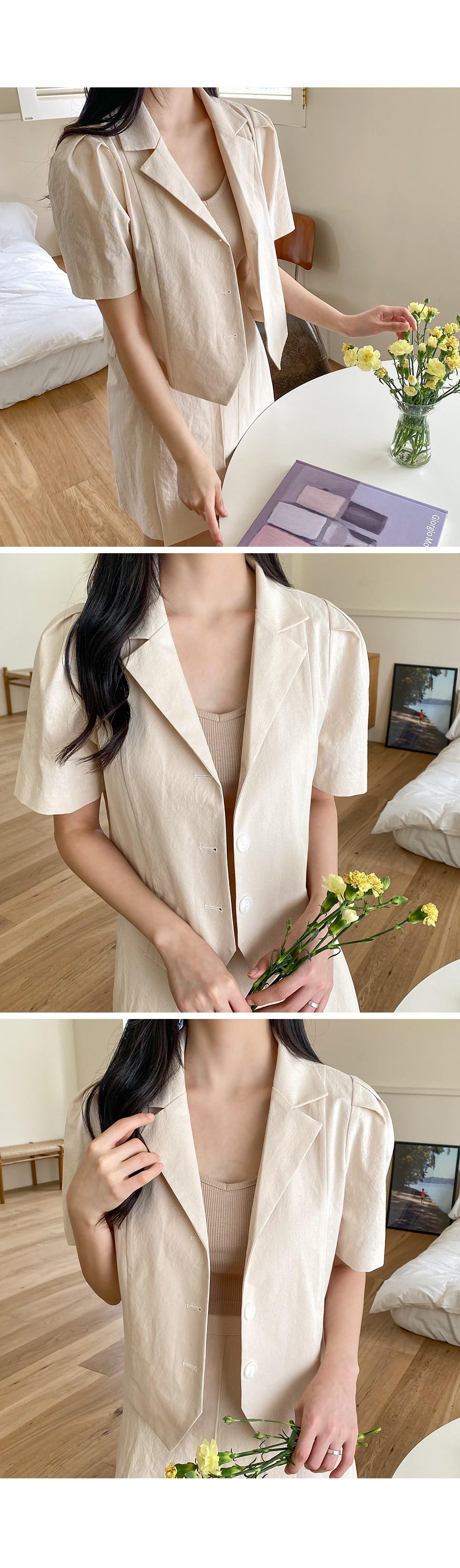 1+1 artificial vivid sleeveless cropped Sleeveless
