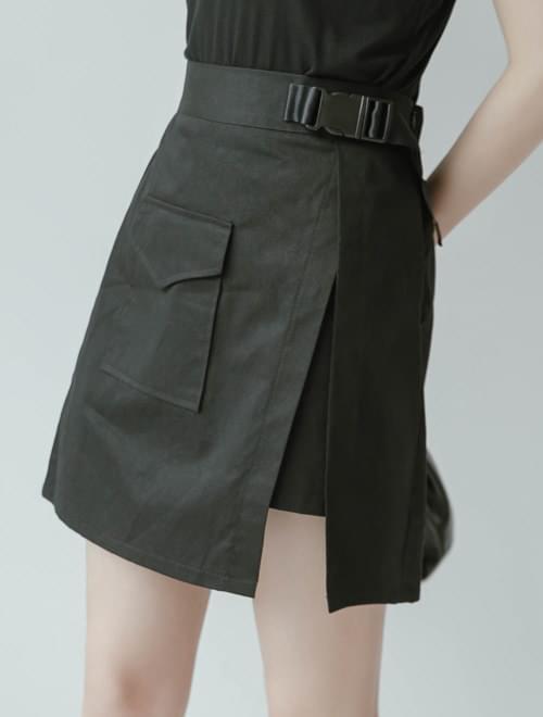 Hip-hop belted skirt