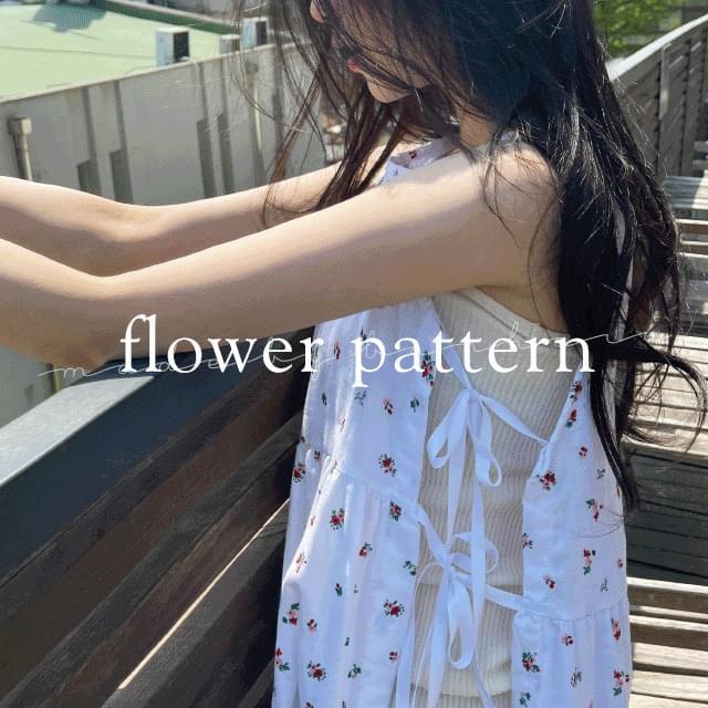 Rose Flower Layered Dress