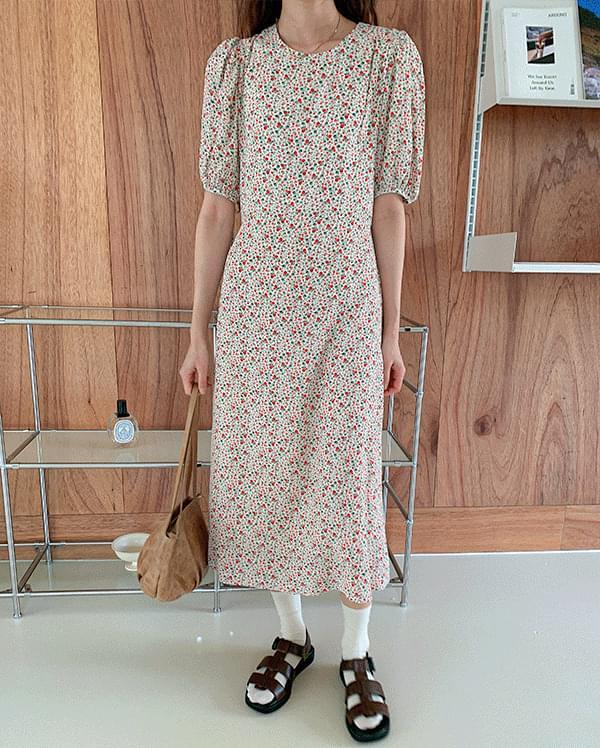 韓國空運 - Lenin Flower Long Dress 長洋裝