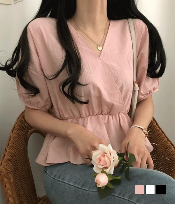 Jenny flared short-sleeved blouse