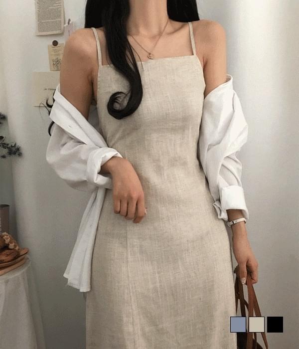 Atti linen bustier long Dress