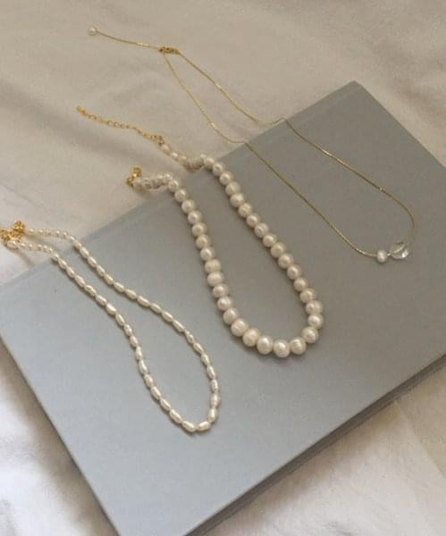 9mm pearlstone necklace