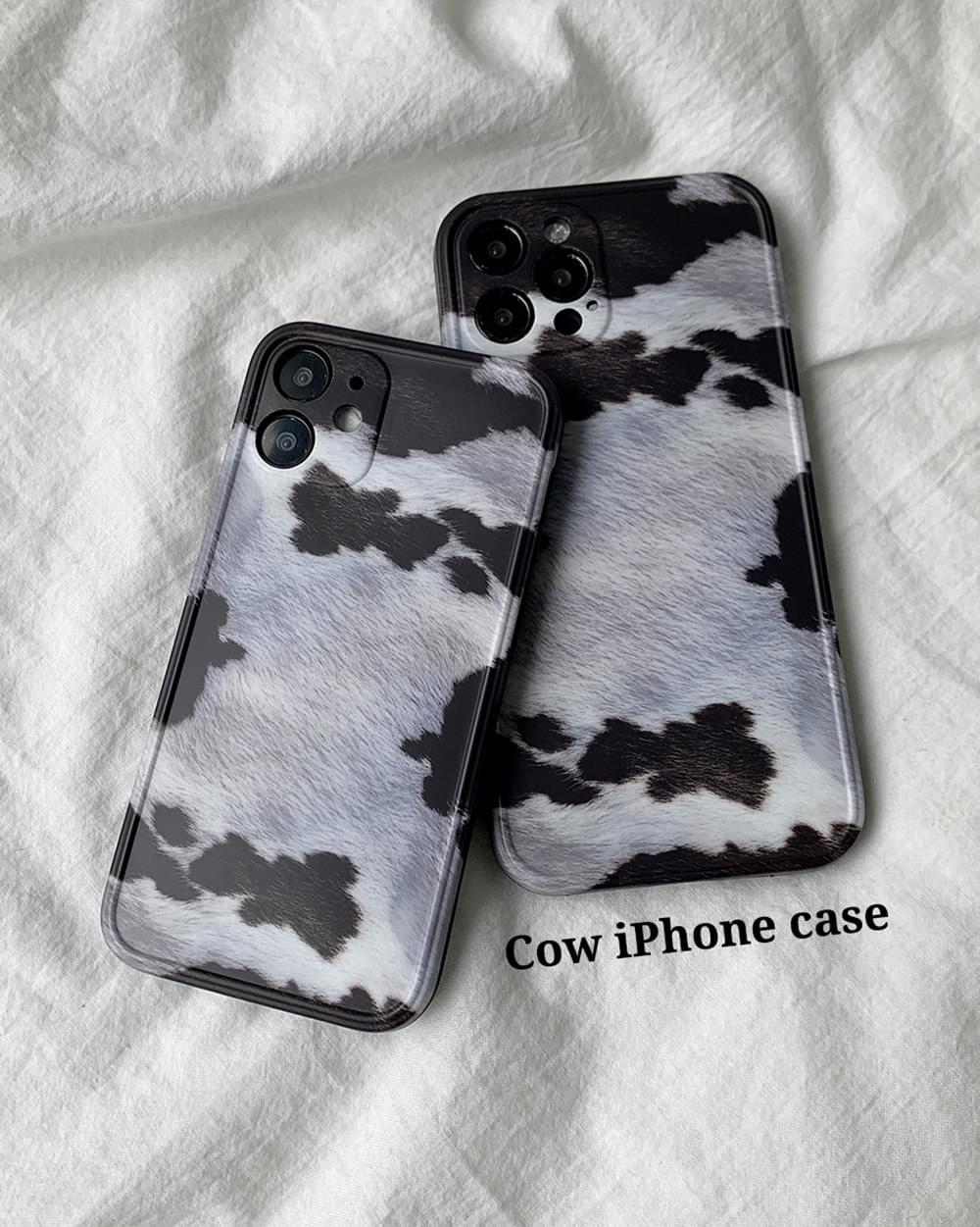 Cow Cow Pattern Full Cover iPhone Case