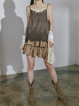 Flower jello mini skirt