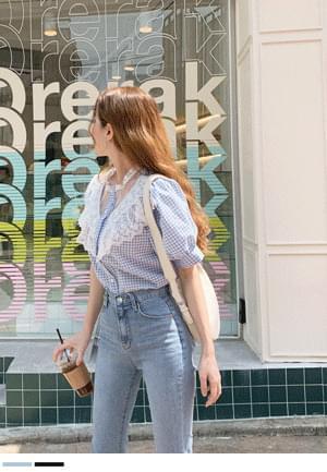 韓國空運 - Full of excitement, lace blouse 襯衫