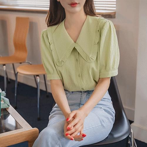 Romance collar blouse