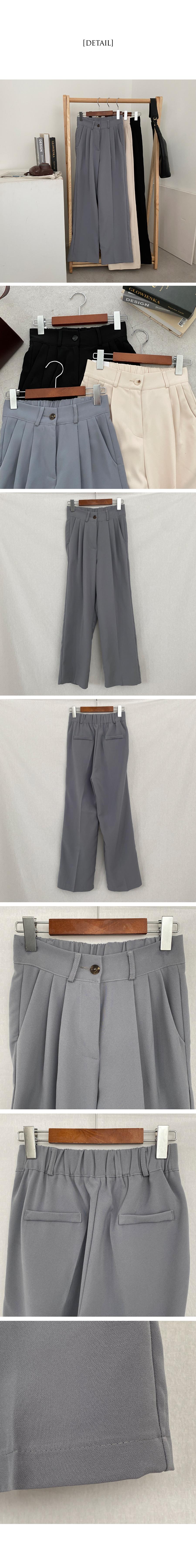 Diago rear banding pintuck wide slacks