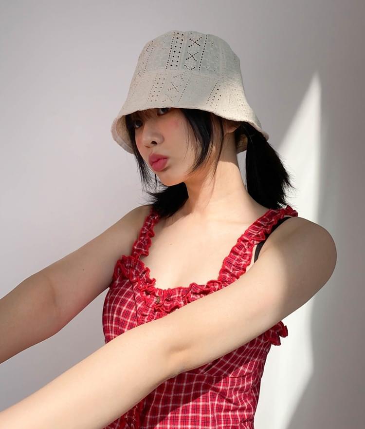 Eyelet Lace Bucket Hat