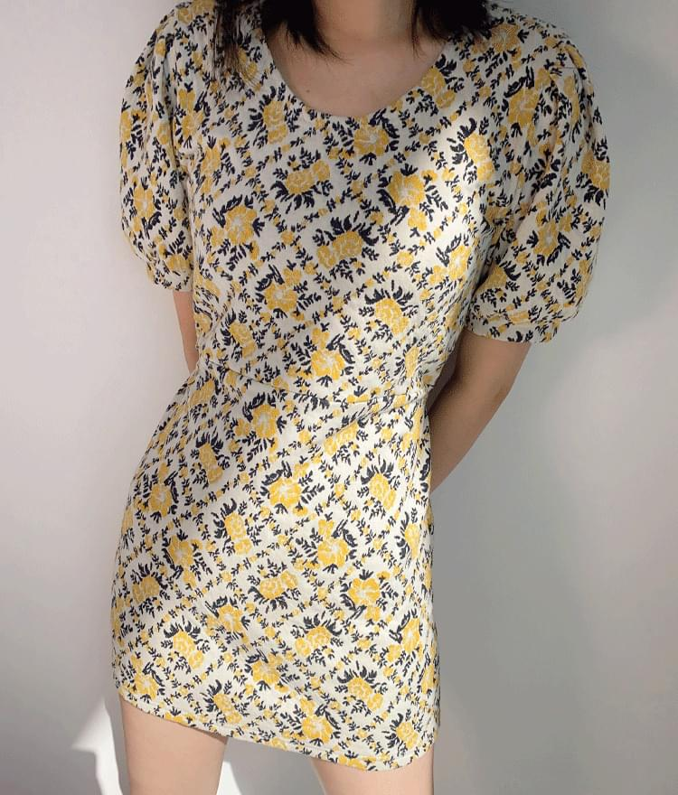 Puff Sleeve Floral Mini Dress