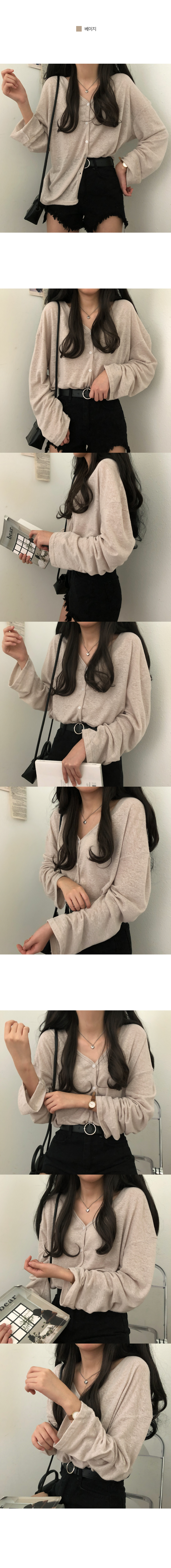 Butter linen Loose-fit cardigan