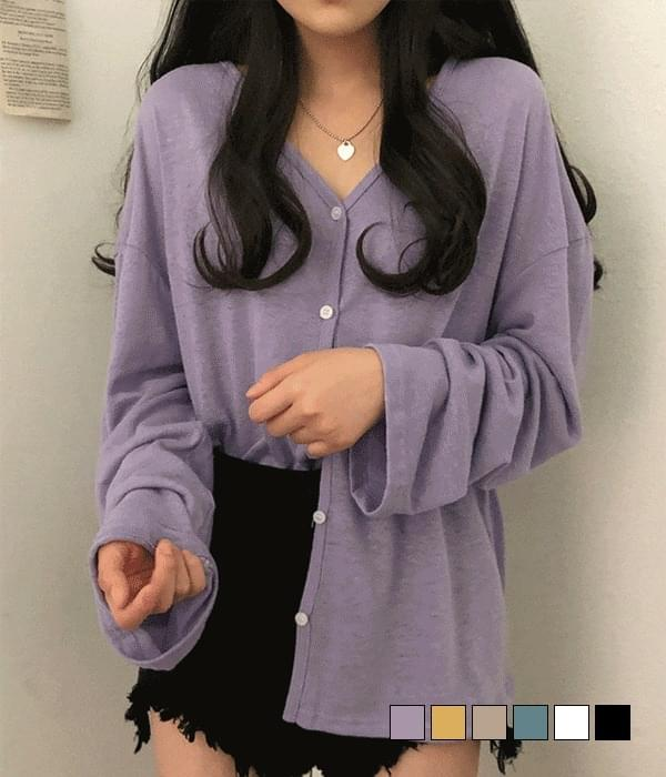 Butter linen Loose-fit cardigan (Delayed delivery)
