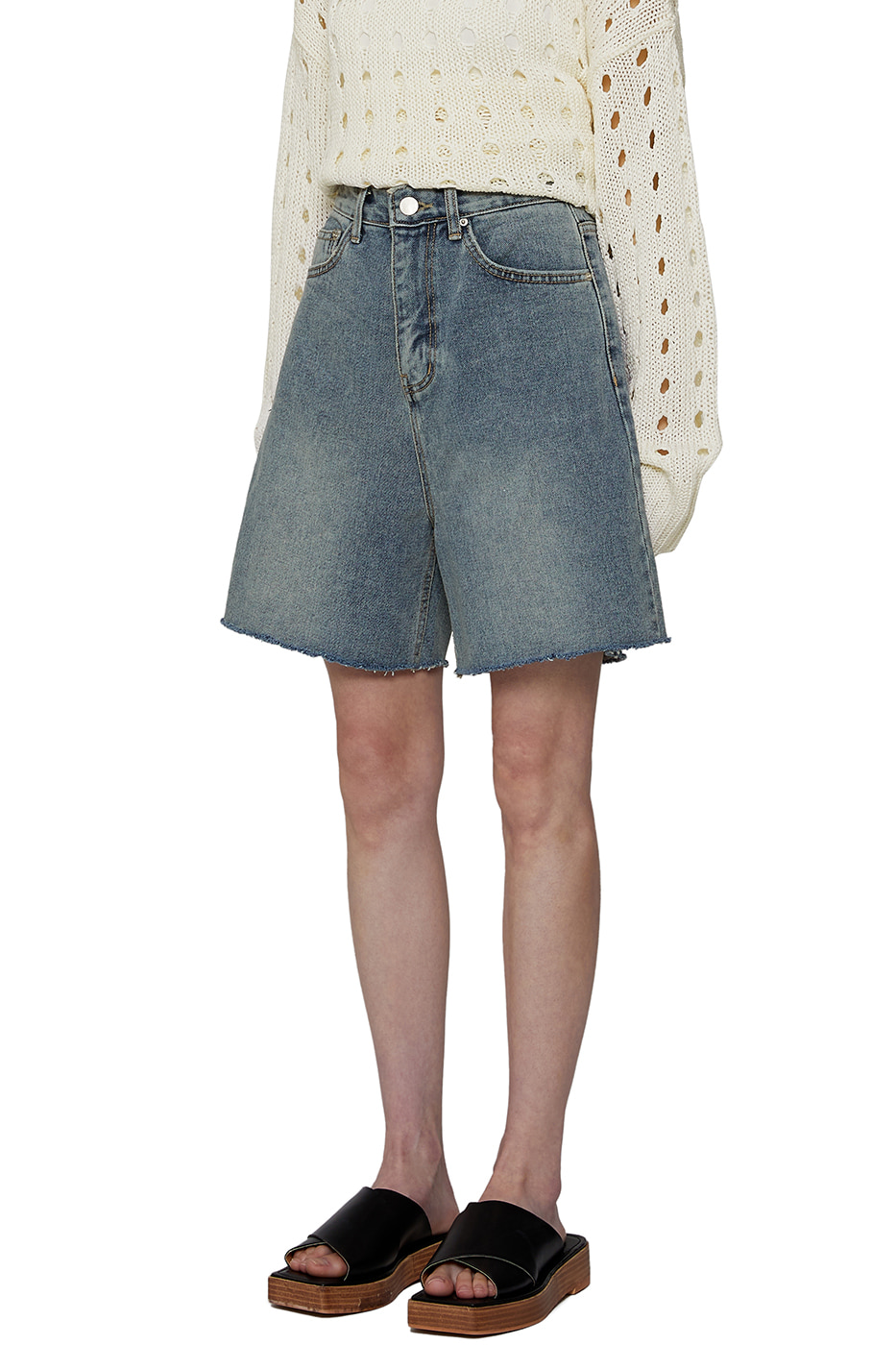 Work denim shorts