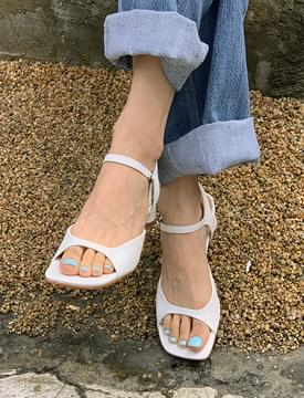 Open Toe Simple Middle Hill Sandals
