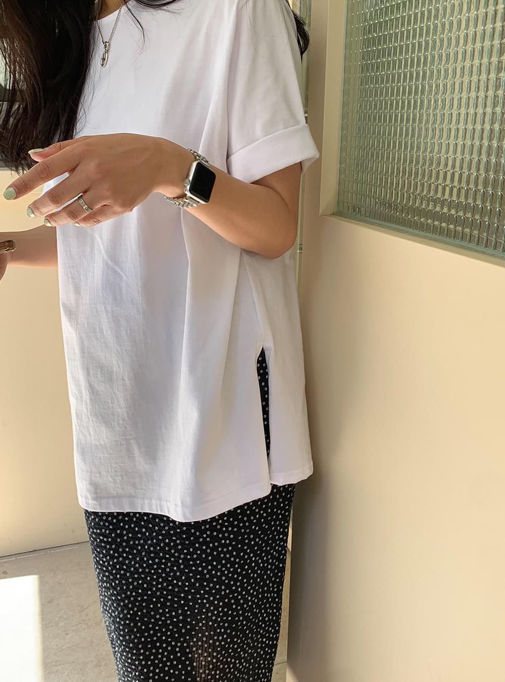 PBP.Tantan Boxy Boxy-fit Slit Long Tea