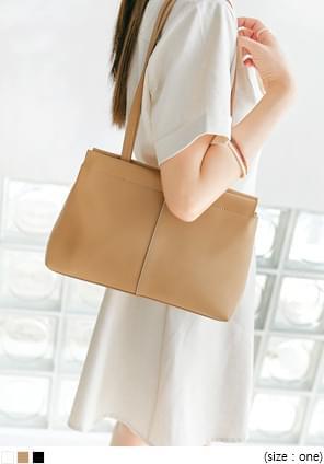 Snap Button Shoulder Bag