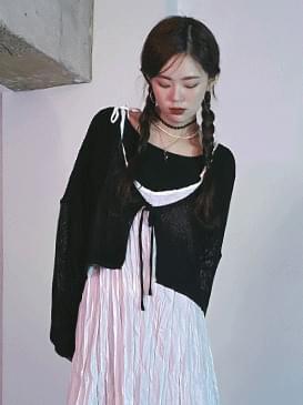 Ribbon Steen Knitwear Cardigan